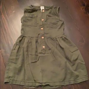 Army green toddlers shirt dress!